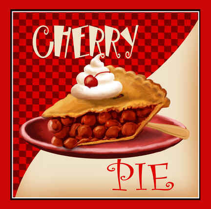 now you may ask why a cherry pie and rose picture because for me two ...