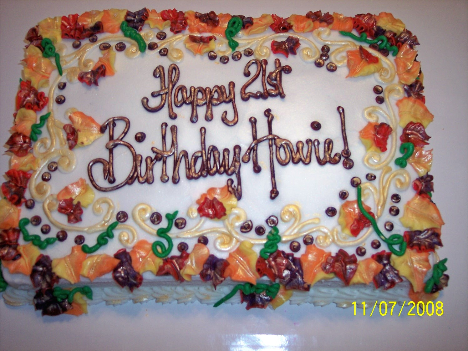 The Decorating an adult birthday sheet cake
