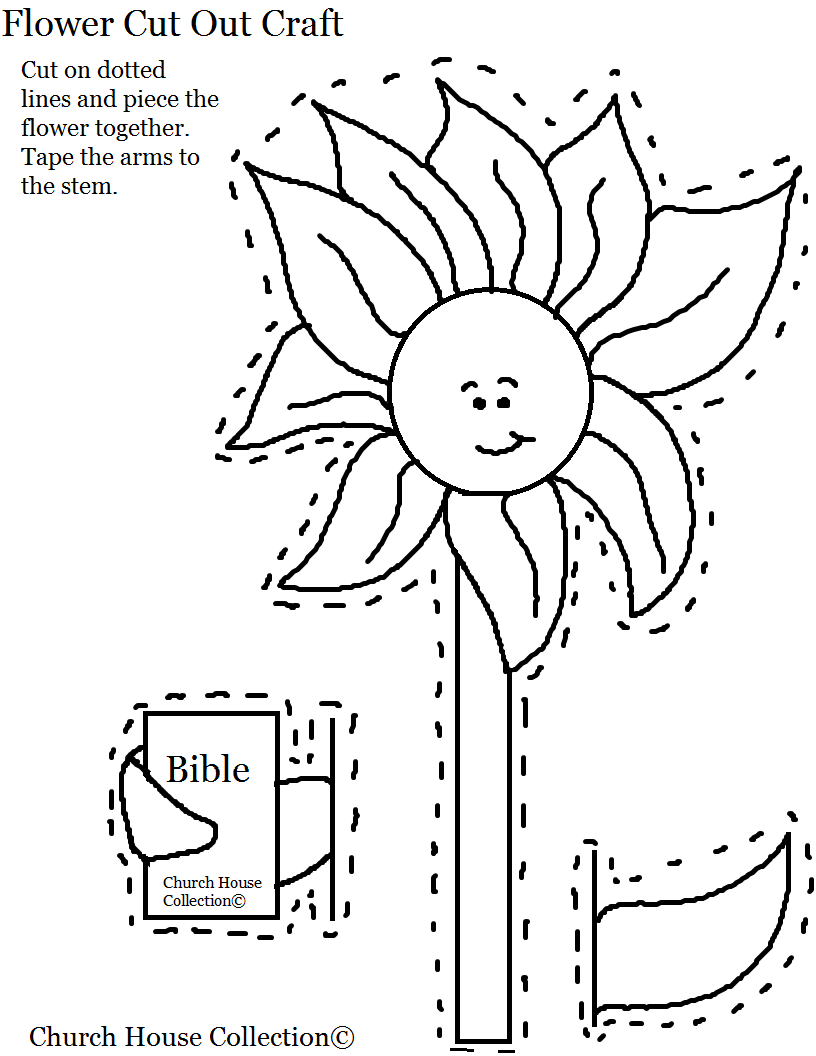 Church house collection blog flower holding a bible cut for Printable bible coloring pages kids