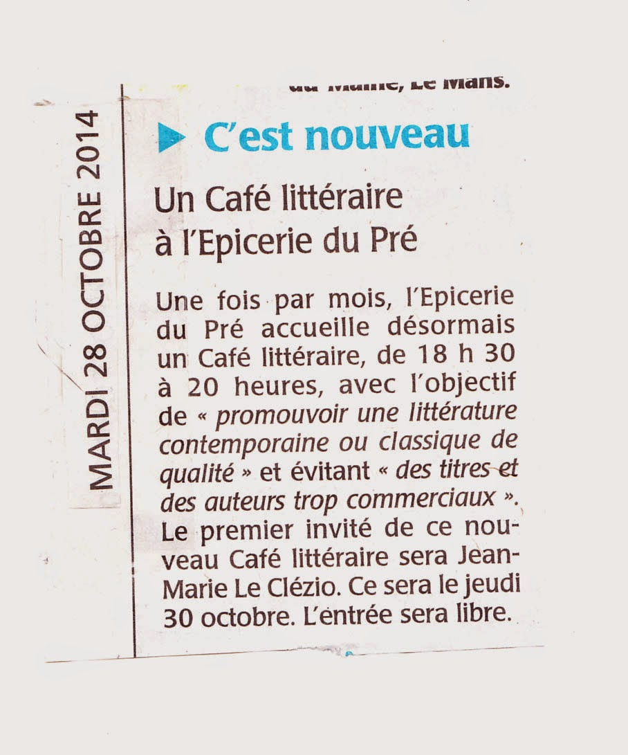 Le Maine Libre 28 octobre 2014
