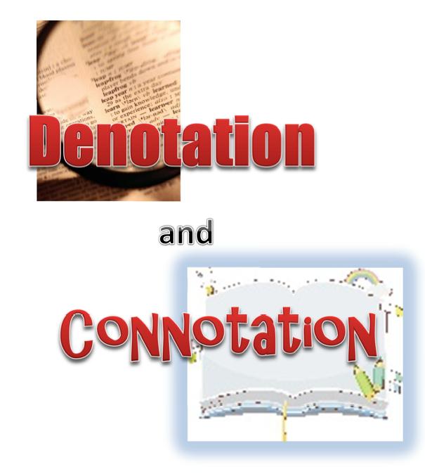 The Best of Teacher Entrepreneurs FREE LANGUAGE ARTS LESSON – Connotation Denotation Worksheet