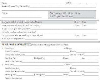 Job application forms 5