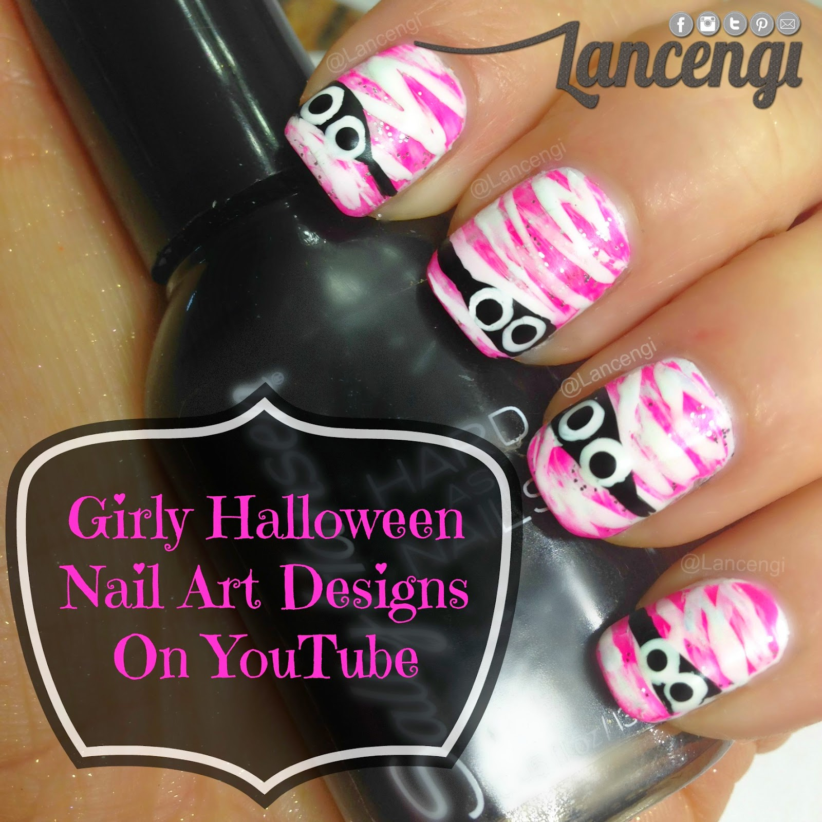 Cute and girly halloween nail designs for beginners lancengi click on any of the names below to shop this video prinsesfo Choice Image