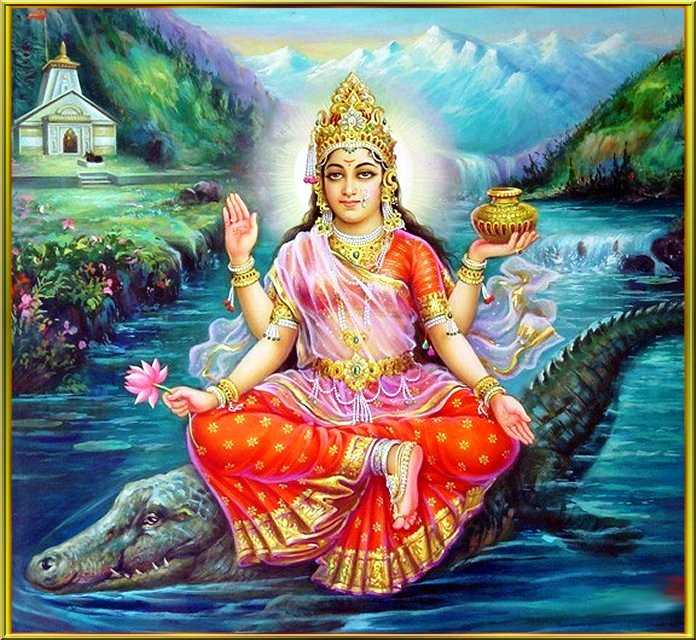 Goddess Maa Yamuna Ji Devi Jayanti HD Wallpapers, Images, Pictures, Photos, Vector, Graphics, Pics, FB Facebook Covers, Greeting Cards with Best Wishes, Shayari, SMS or Quotes