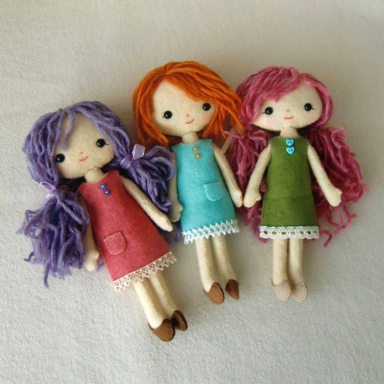 Куколки из фетра своими руками мк