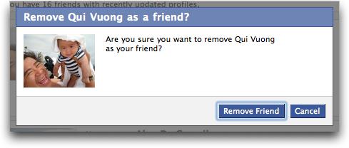 amici rimuovere facebook cancellare
