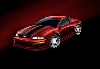Red Mustang Cobra 2000