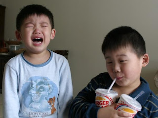 funny brothers crying