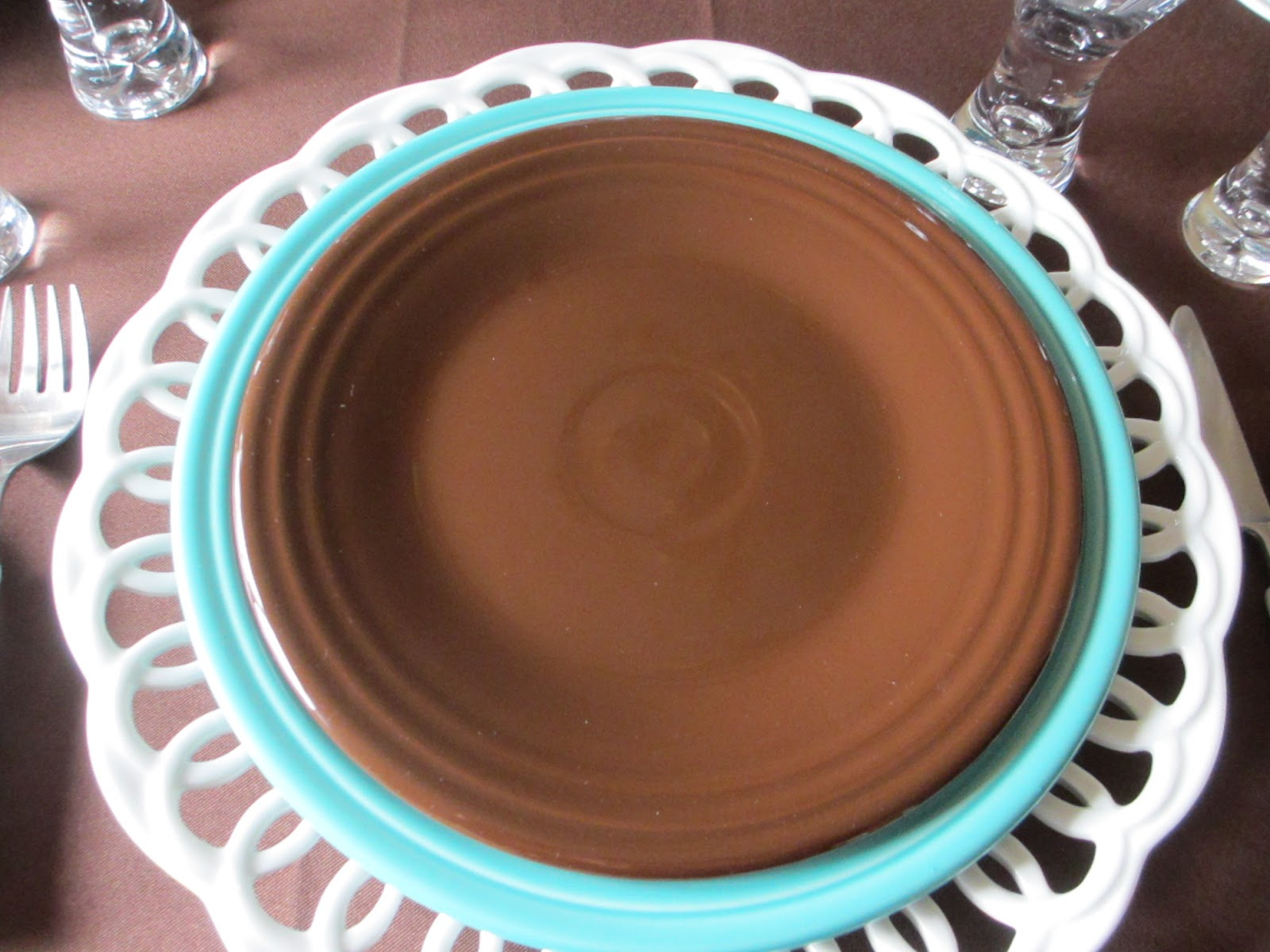 Chocolate Fiesta Luncheon Plate & The Welcomed Guest: Chocolate and Turquoise Fiesta Table