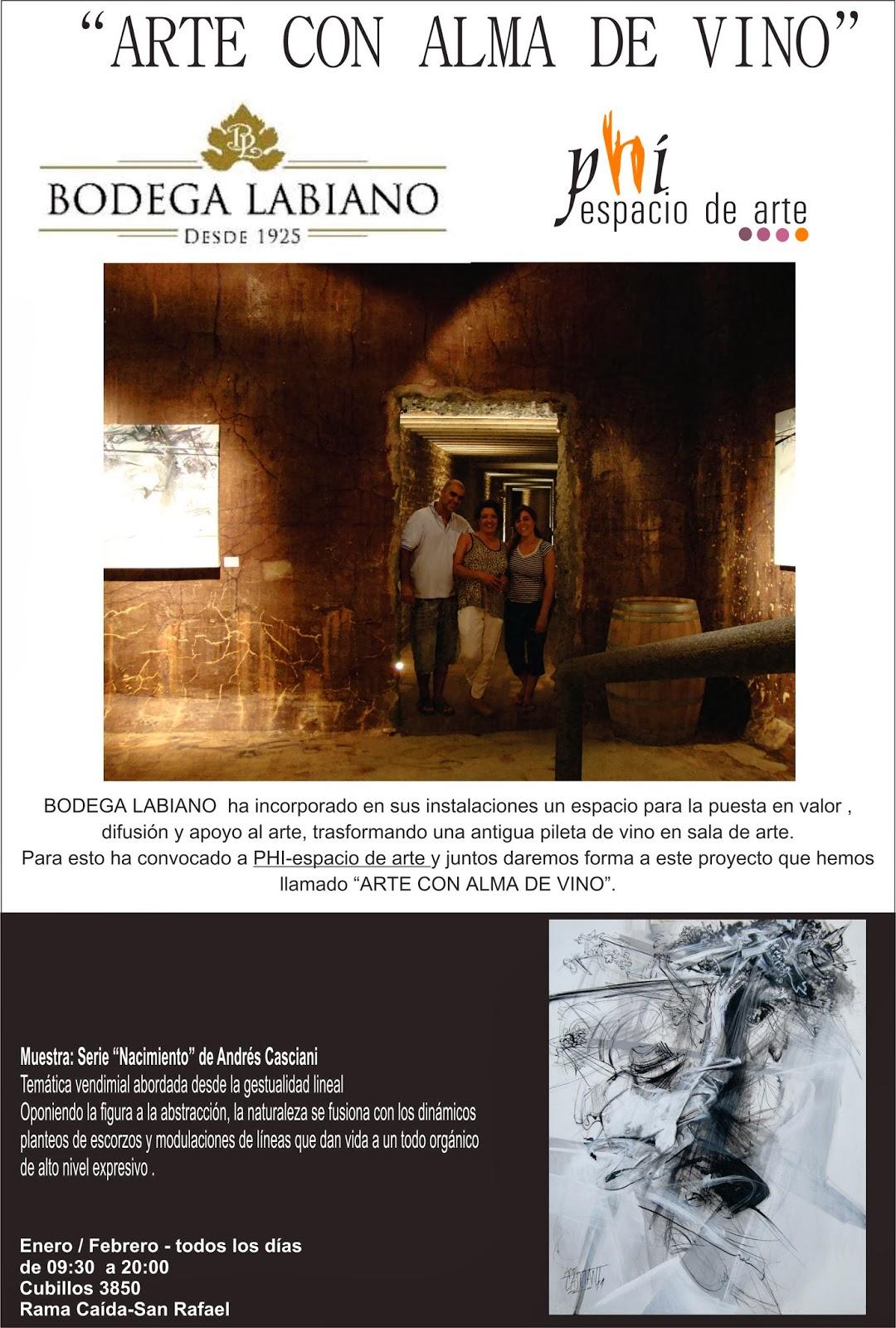 PHI- espacio de Arte en Bodega Labiano es \