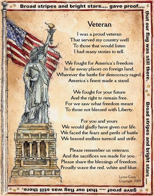Meaning Veterans Day Thank You Poems