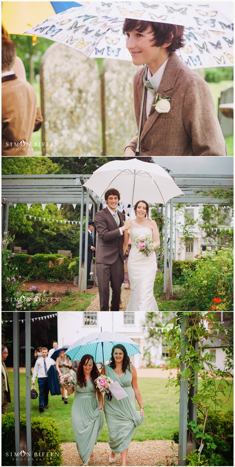 Roughmoor farm wedding rain