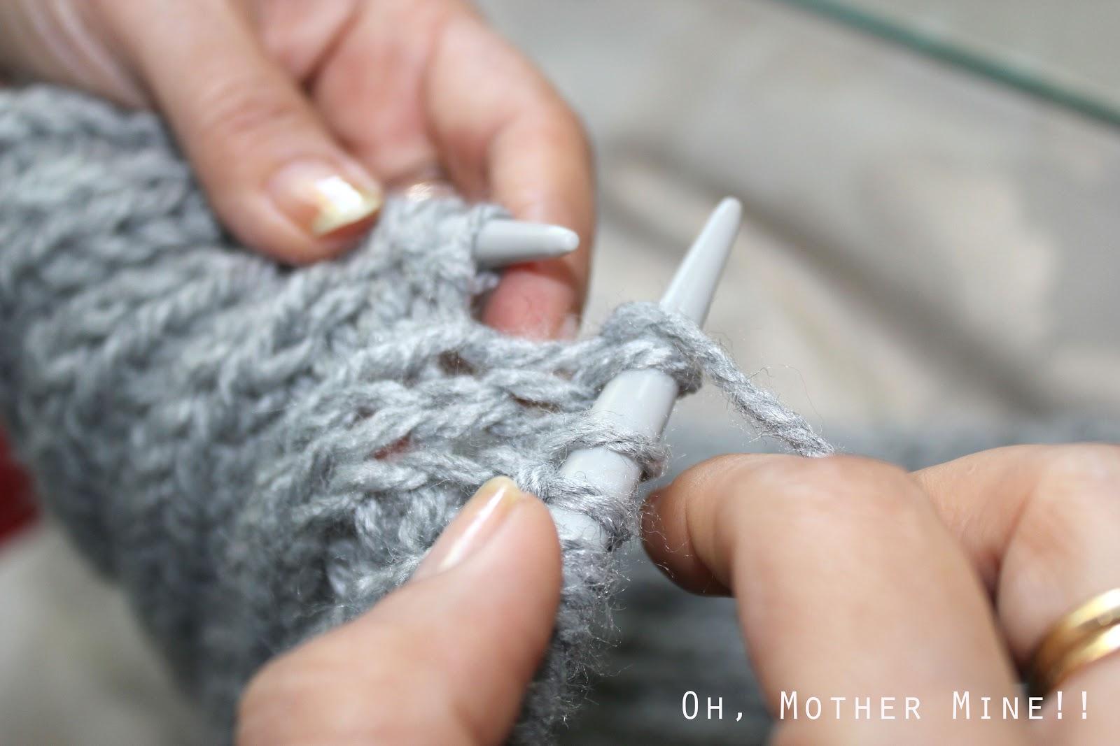 Aprender a hacer punto: DIY Bufanda cerrada :D | | Oh, Mother Mine DIY!!