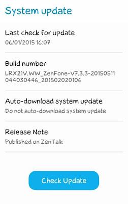 System Update Asus Zenfone 4