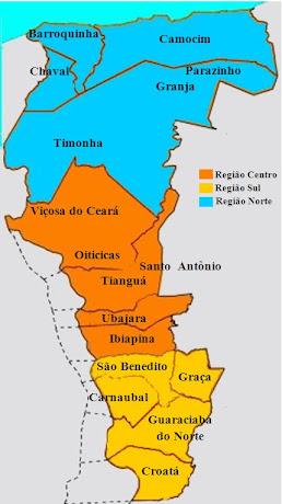 MAPA REGIONAL DA DIOCESE DE TIANGUÁ