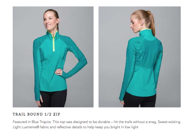 lululemon trail bound zip