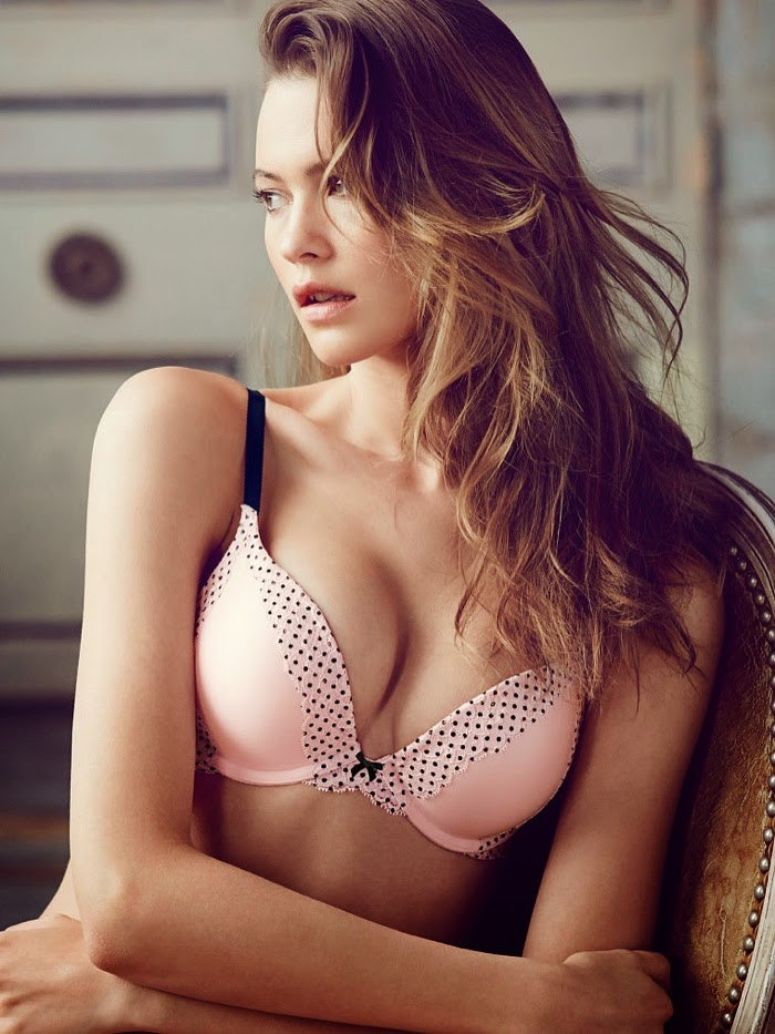 Behati Prinsloo poses in seductive lingerie designs for the Victoria's Secret July 2014 Lookbook