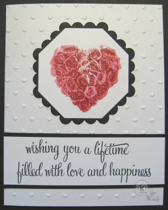 wedding rings. Stamps: Sweetheart Roses and Wedding Rings by Kitchen Sink Stamps