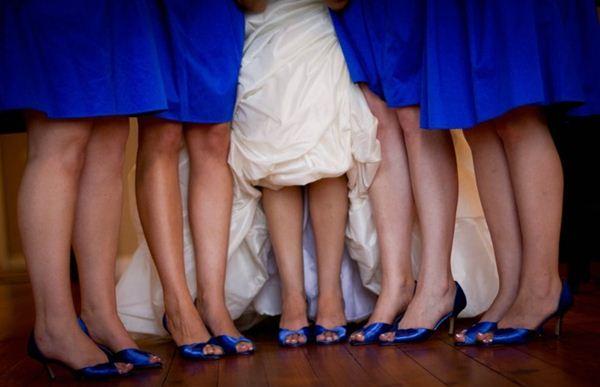 vestidos damas de honor em azulão
