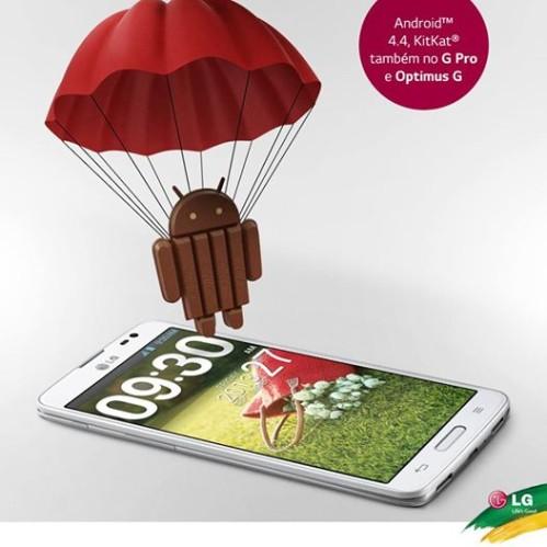 Aggiornamento Android KitKat 4.4.2 per Optimus G e G Pro entro la fine dell'estate