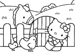 Desenho como desenhar hello kitty com animais pintar e colorir