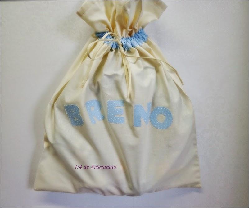 saco de tecido confeccionado em algodão cru