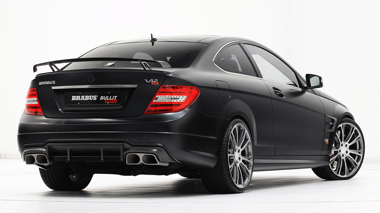 2012 brabus mercedes benz c63 amg bullitt coupe 800 on 20. Black Bedroom Furniture Sets. Home Design Ideas