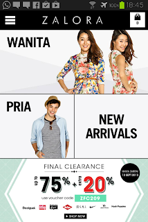 screenshot aplikasi Zalora Android