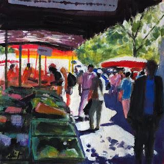 Saturday Market in Goettingen by Liza Hirst
