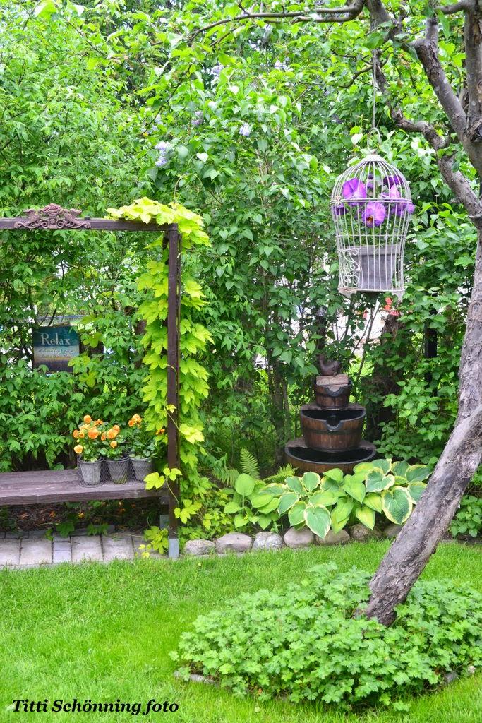 Nedre trädgården, relaxbänken