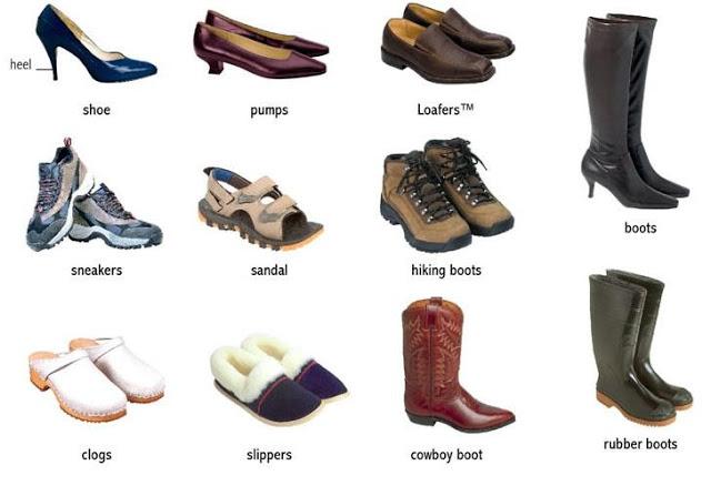 Shoes Vocabulary