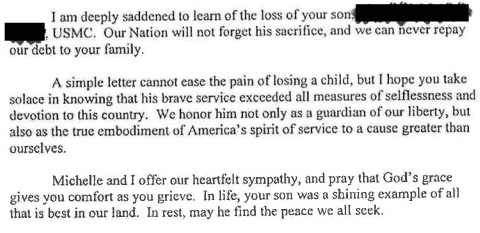Speak With Authority White House Condolence Form Letter in Use – Sample of Sympathy Letter