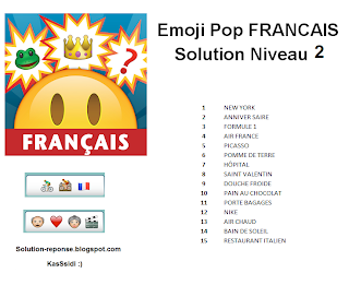 Emoji Pop Francais solution niveau 2