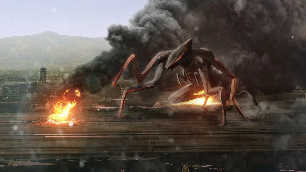 Gambar Film Godzilla 2014 Muto vs Gojira