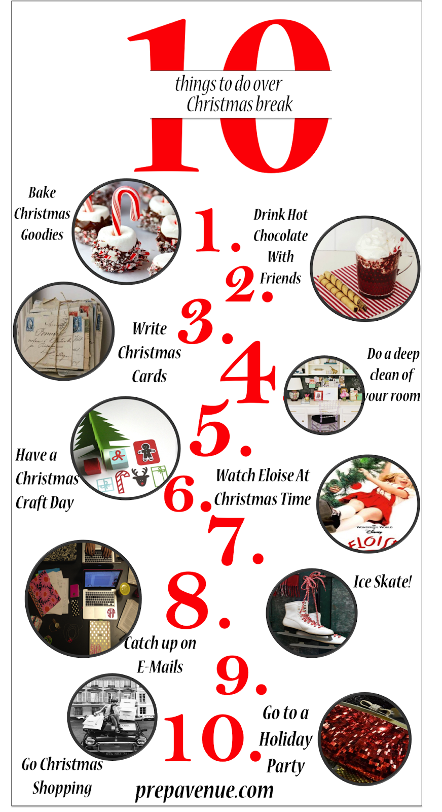 10 Things To Do Over Christmas Break - Prep Avenue