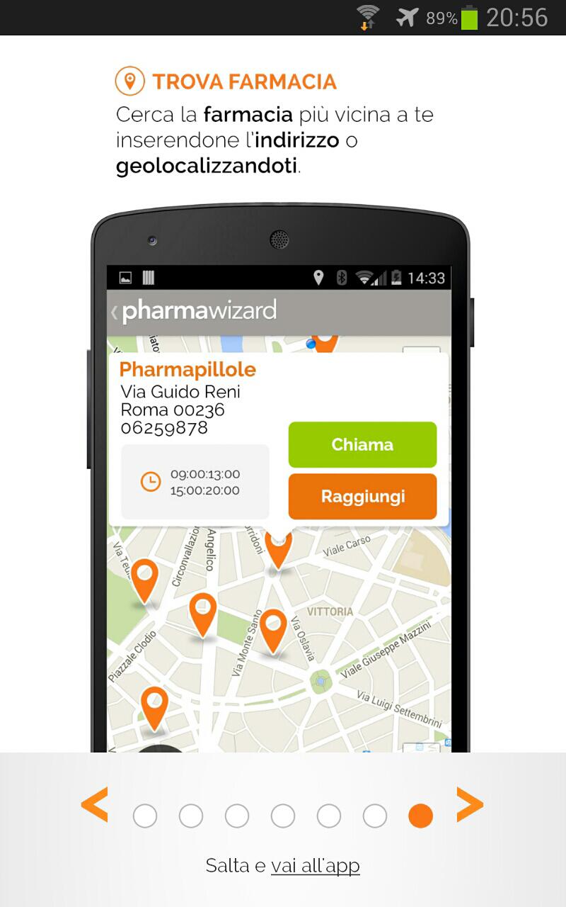 settima schermata del tutorial di pharmawizard