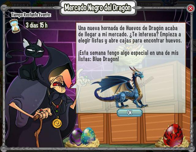imagen del dragon blue en el mercado negro del dragon