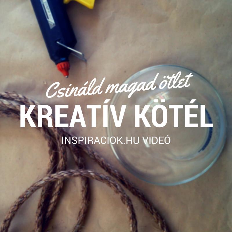gyümölcstál kötélből kreatív ötlet