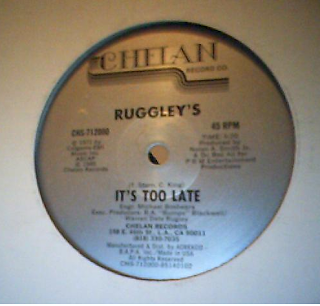 Ruggley's  -  It's Too Late 12 inch 1985