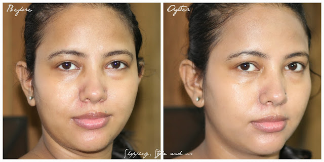 Olay_Day_Cream_Touch_Of_Foundation_Review_Before and After Pictures