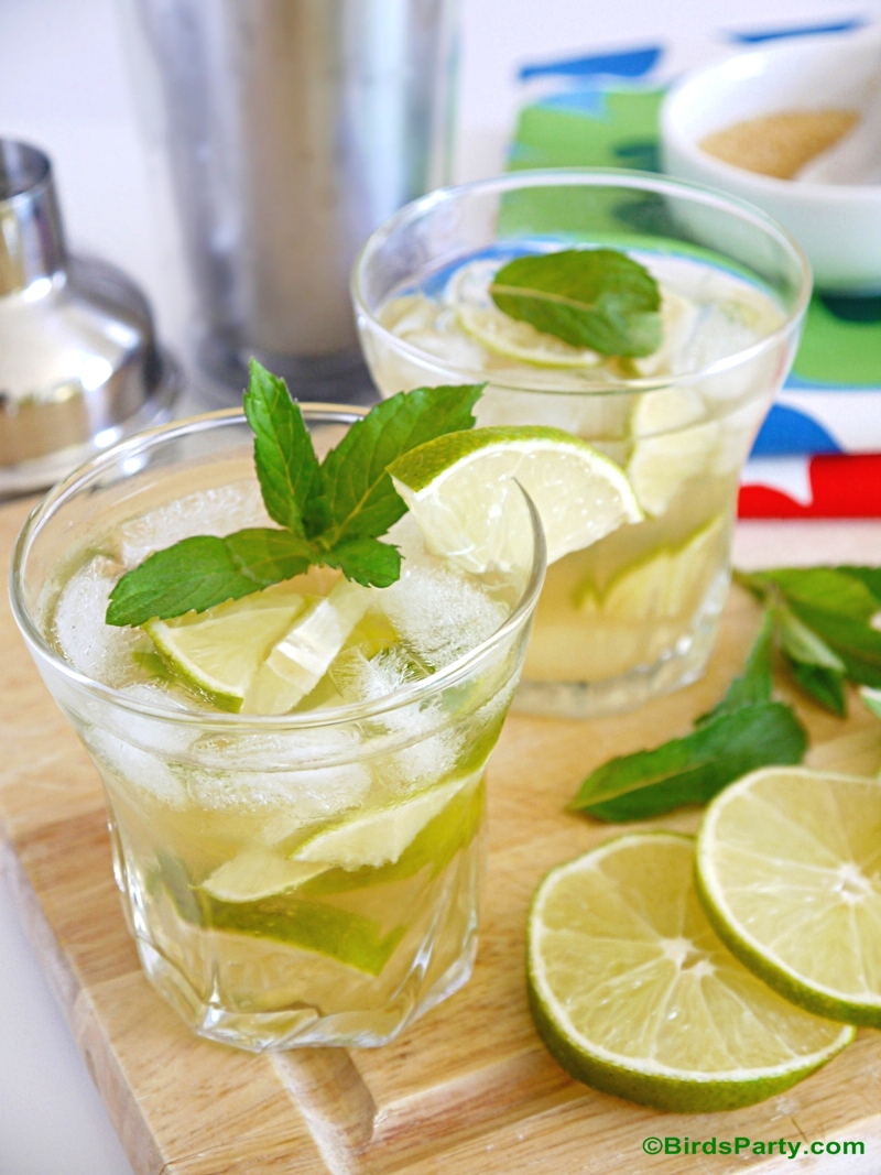 Tequila Caipirinha Cocktails Recipe | Party Ideas | Party Printables
