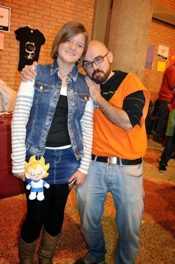 Cosplay de C18 y Krilin en Mangafest 2013
