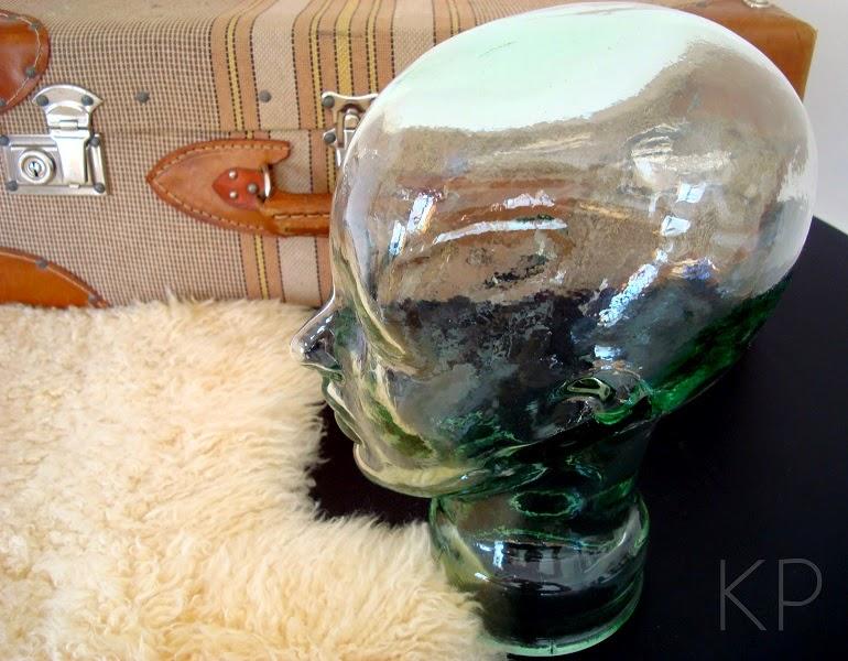 comprar cabezas antiguas de cristal para decoración