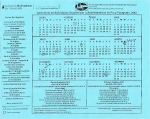 Cronograma de Actividades Administrativas Académica 2012