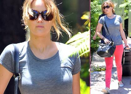 Jennifer Lawrence's Pre-Weekend Luggage Loadup » Gossip