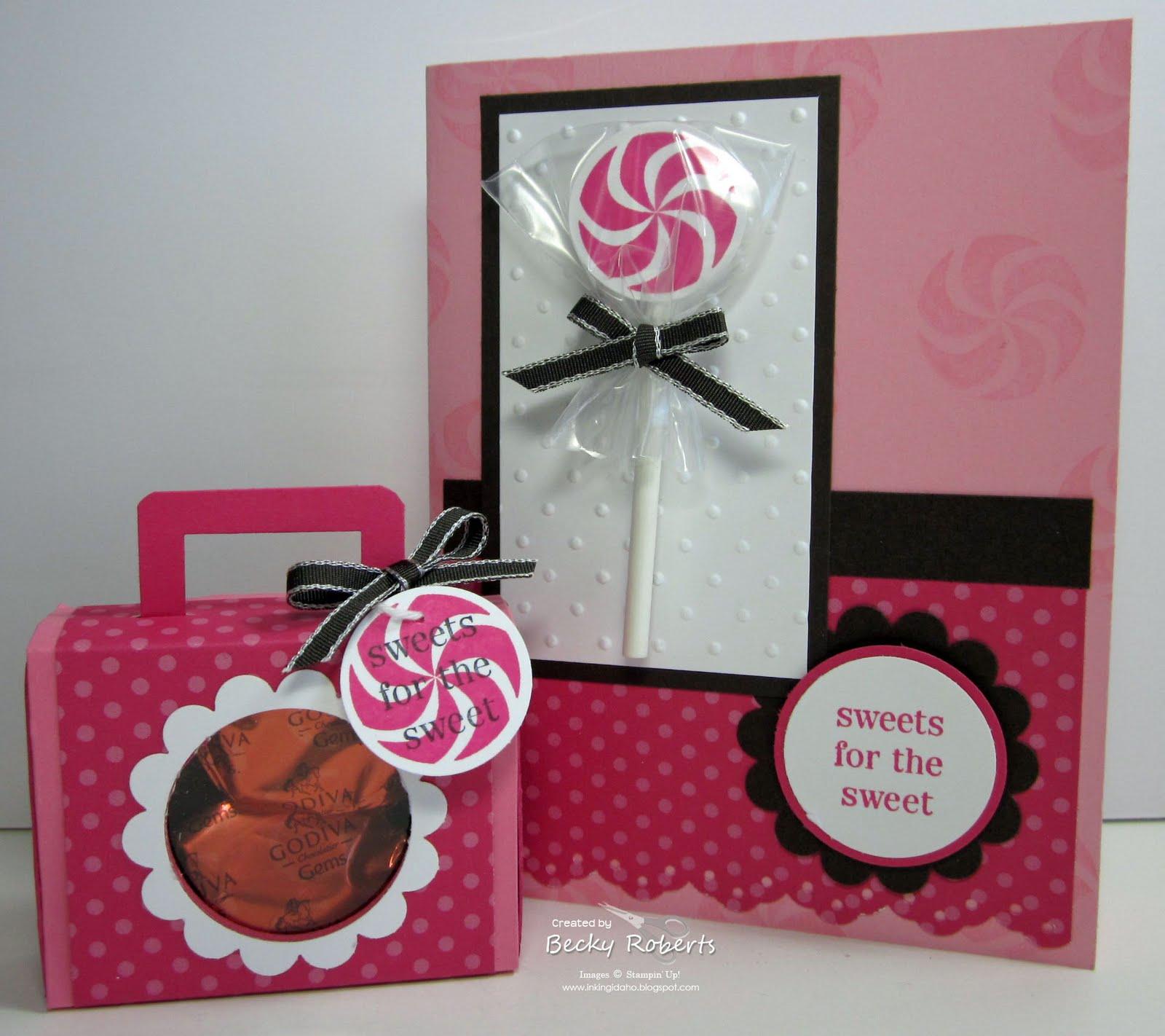 Inking Idaho Lollipop Cards Matchbox Suitcases