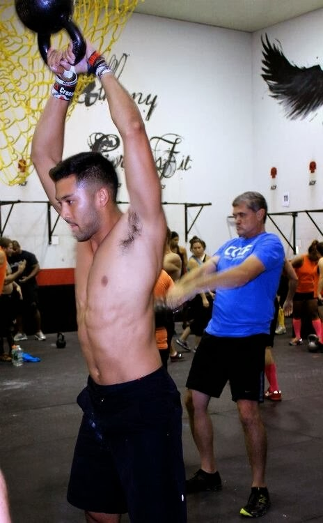 Man's Hairy Armpits Kettlebell Workout