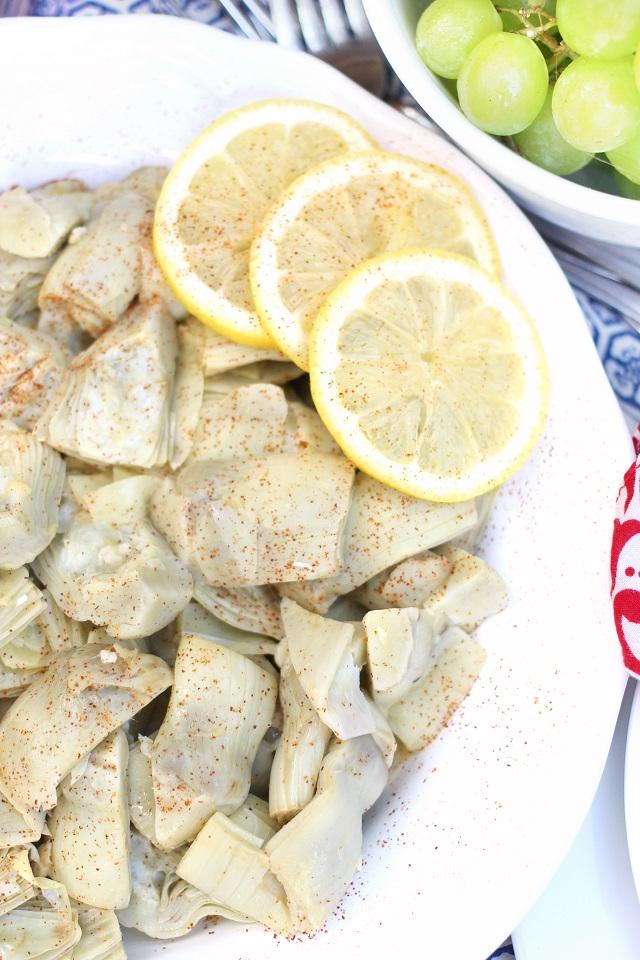 White Wine Lemon Butter Artichoke Hearts