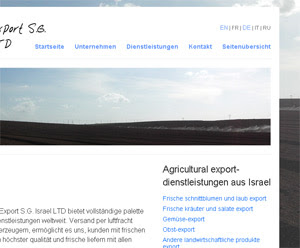 Flora Export S.G. Israel LTD new website design
