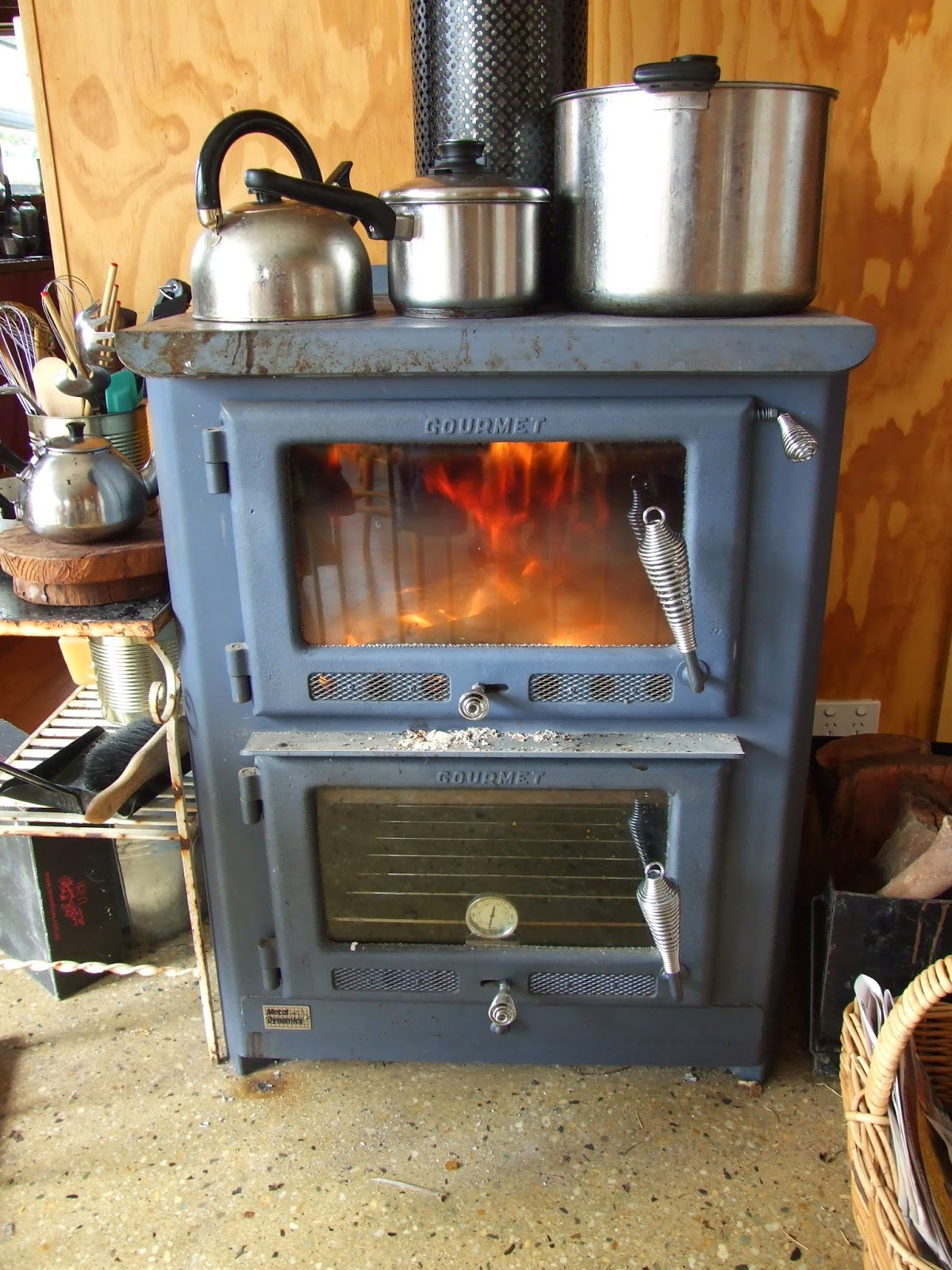 Cooking without a stove - Our Wood Fired Stove Oven Hot Water System And Heater